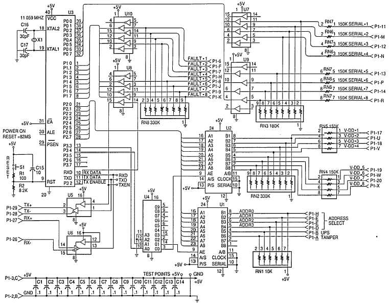 Figure E-3. Central Processing Unit CCA Schematic Diagram.