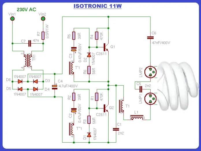 it diagram of PCB of CFL