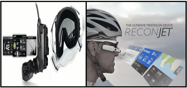 Recon jet Smart Eyewear and its Displayed View