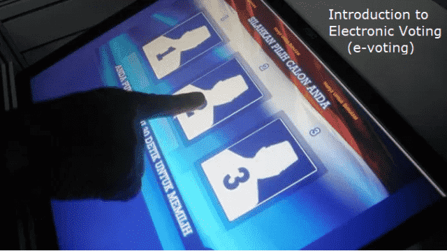 Introduction to Electronic Voting (e-voting) (1)
