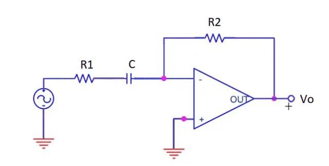 High Pass Filter Using Op-amp