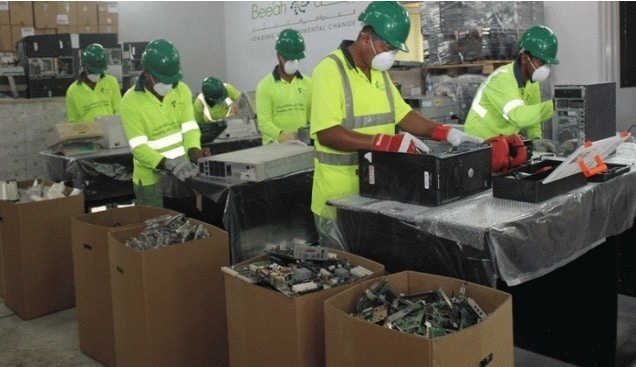 Manual Sorting of Electronic Waste