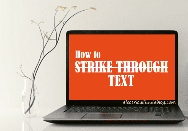 How to Strikethrough Text