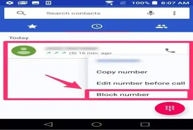 Block call on Android