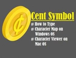 Cent Symbol – How to Type, Cent Sign Shortcut (Alt Code) Windows, Apple