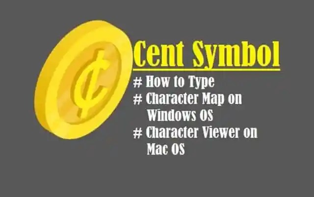 Introduction to Cent Symbol