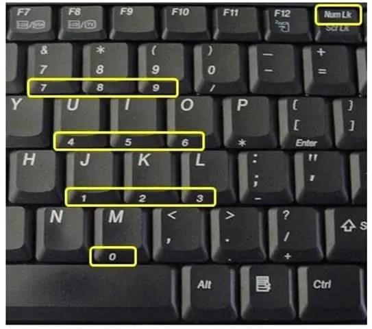 10-Key Keypad on Laptop