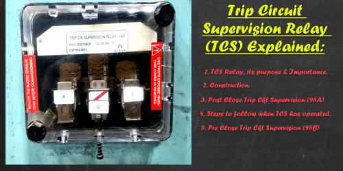 small resolution of trip circuit supervision relay explained