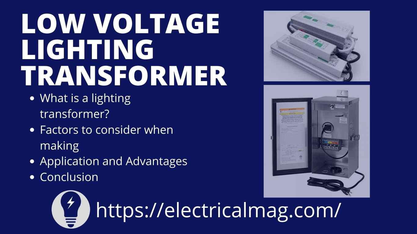 low voltage lighting transformer electricalmag