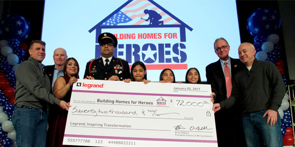 Legrand, North America Helps Fund New Home for Injured Afghanistan War Veteran