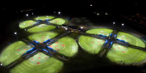 Eaton's Ephesus LED Sports Lighting Retrofit Solution Installed at Ford Park's 12 Championship-Caliber Youth Baseball/Softball Fields