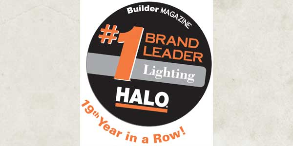 Eaton's Halo Product Line Named the Lighting Leader by BUILDER Magazine Readers for the 19th Consecutive Year, Sweeping all Categories
