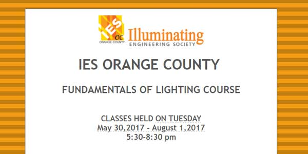 IES Orange County Fundamentals of Lighting Course