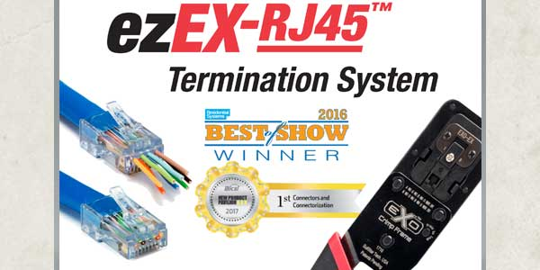 Platinum Tools Features Next Generation ezEX-RJ45 Termination System at 2017 InfoComm