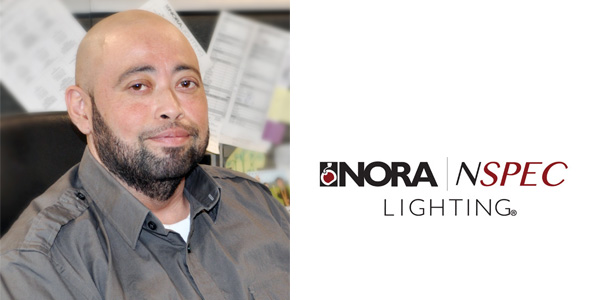 Nora Lighting Promotes Johnny Campos to Customer Service Department