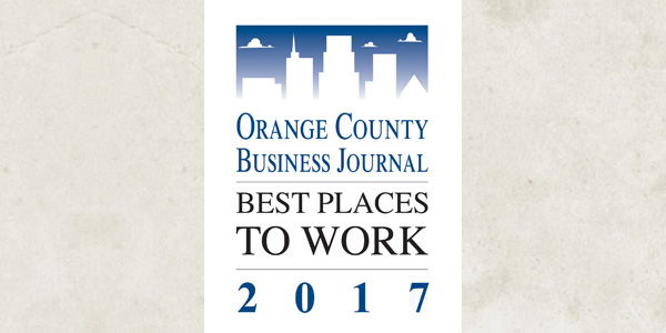 SCI Named to 2017 Best Places to Work in Orange County List