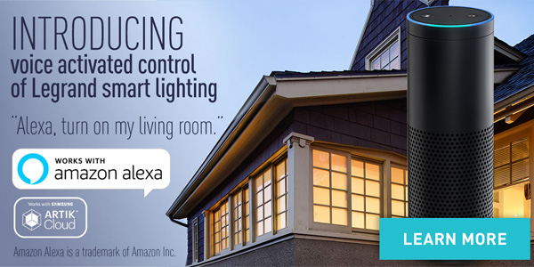 Legrand Releases Amazon Alexa Voice Control for Lighting Control Systems