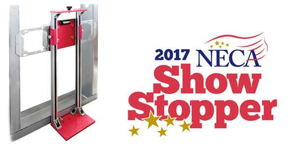 ORBIT INDUSTRIES' HEIGHT ADJUSTABLE BOX INSTALLATION TEMPLATE (HABIT) WINS 2017 NECA SHOWSTOPPER AWARD