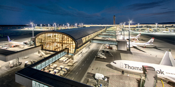 Zumtobel Group and its Brands Equip Oslo Airport with 21,200 LED Luminaires