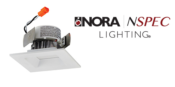 Nora Lighting Adds Trendy Onyx Squares to Popular LED Downlight Series