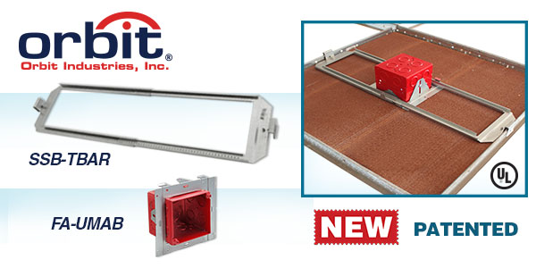 Orbit Industries' New Drop Ceiling Box Mounting System