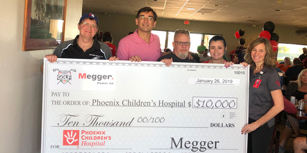 Megger Raises $14,765 for Phoenix Children's Hospital Foundation