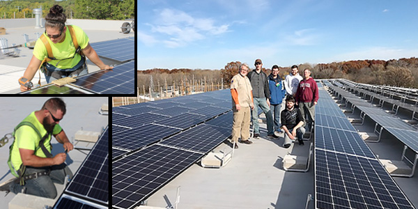 Werner Electric Supply, Eland Electric, and NWTC Complete Work on Solar Installation