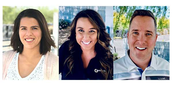 Service Wire Employees Recognized as Certified Electrical Professionals. Alyssa DeLoatch, Amanda Puckett, and Shane Williams