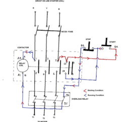 Contactor And Thermal Overload Relay Wiring Diagram Maxon Hydraulic Pump Direct On Line Starter Electrical Notes Articles Working