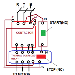 Diagram Motor Control Wiring Rv Trailer Light Direct On Line Starter Electrical Notes Articles Starting Characteristics