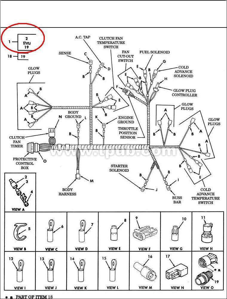 6150-01-433-1568 Wiring Harness