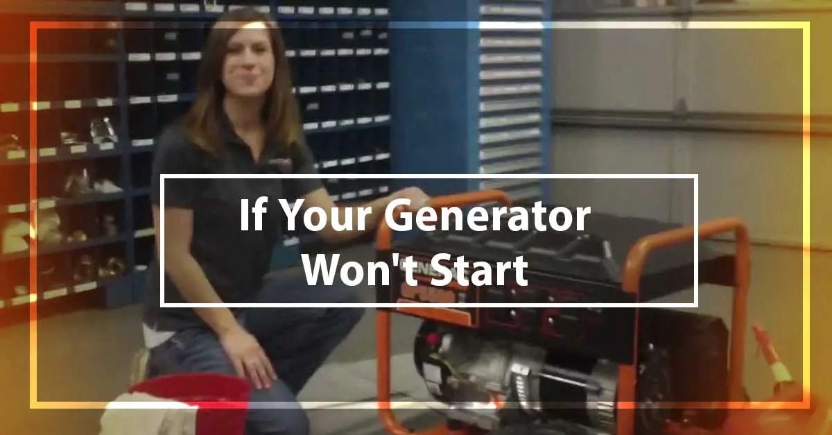 If Your Generator Won't Start