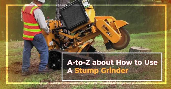 A-to-Z about How to Use A Stump Grinder