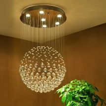 Saint Mossi Chandelier Modern K9 Crystal Raindrop Chandelier Lighting Flush mount LED Ceiling Light Fixture