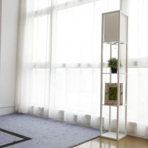 CO-Z Etagere Floor Lamp with Shelves