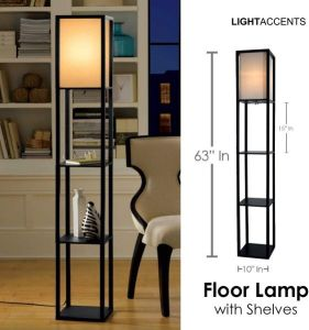 Light Accents Floor Lamp with Shelves