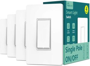 Single Pole Treatlife Smart Light Switch (Neutral Wire Required)