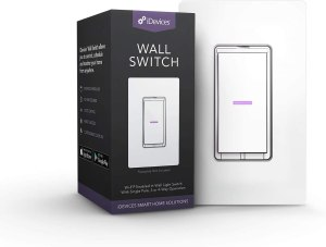 iDevices IDEV0008HW Wi-Fi Smart Wall Switch