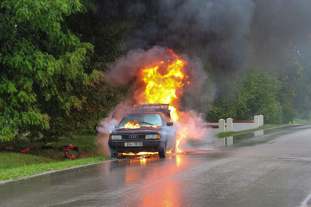 Electric vehicle fires could be serious