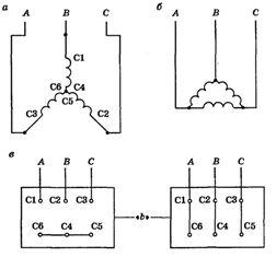 » Асинхронные двигателя 4а и схемы соединения обмоток