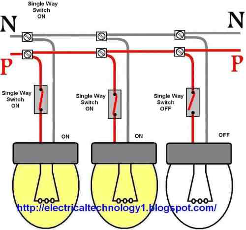 small resolution of wiring a light switch control each lamp by separately switch guest battery switch wiring diagram marine dual battery switch wiring diagram