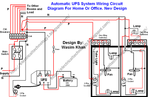 Automatic UPS system wiring circuit diagram (HomeOffice)