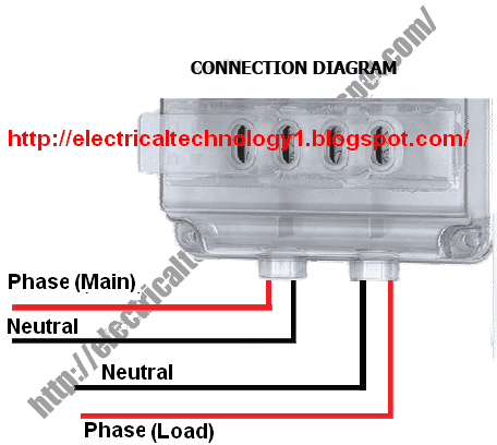 How To Wire Single Phase KWh Meter? Electrical Technology