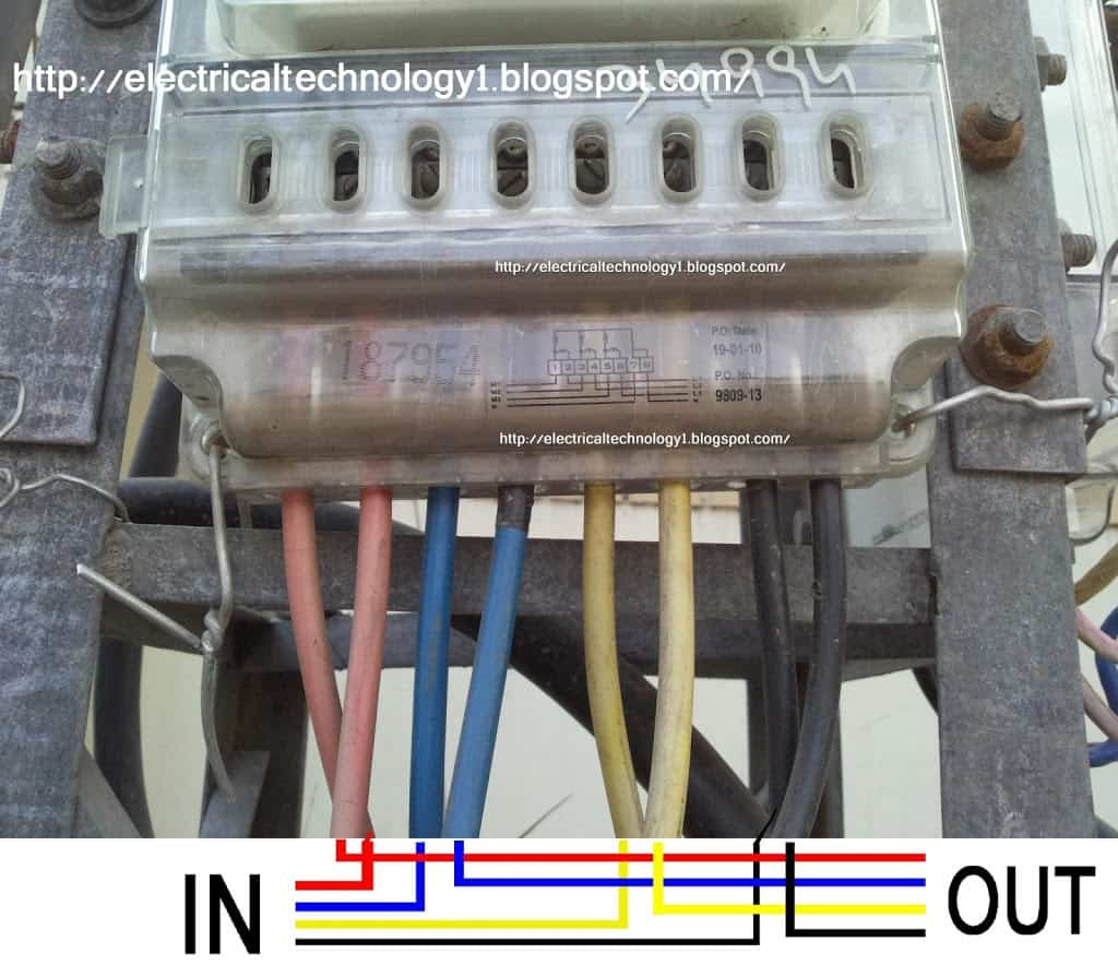 3 phase 4 wire energy meter wiring diagram toyota yaris radio how to kwh electrical technology