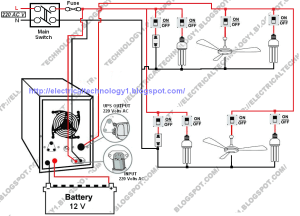 Automatic UPS System Wiring Diagram in Case of some items