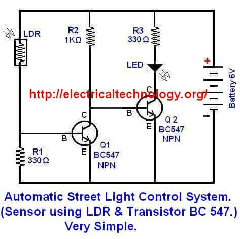 single phase submersible starter wiring diagram 1990 honda accord alternator automatic street light control system.(sensor using ldr & transistor bc 547.) very simple ...
