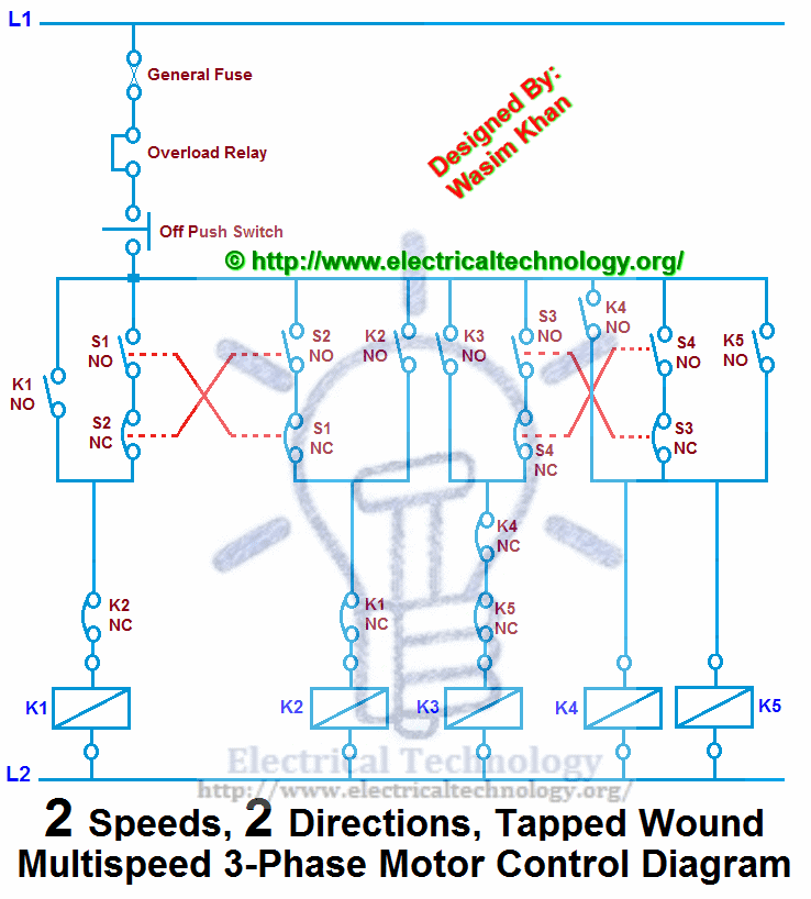 2 speed electric motor wiring diagram for Single phase ac motor speed control circuit diagram