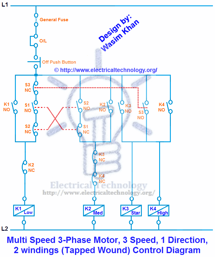 Two speed electric motor wiring diagram for Single phase ac motor speed control circuit diagram
