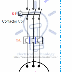 3 Phase Motor Contactor Wiring Diagram Bell Hd Satellite Starting & Stopping Of 3-phase From More Than One