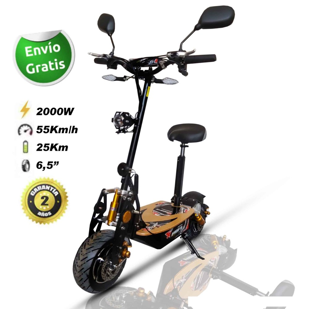 Scooter patinete eléctrico 2000W